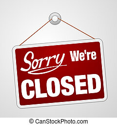 my, zamknięty znak