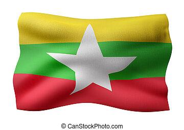 Myanmar 3d flag