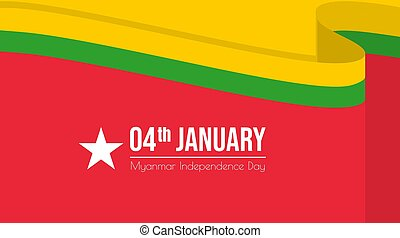 Myanmar Background Design with Myanmar flag color. Good Template for Myanmar Independence day or national Day design.