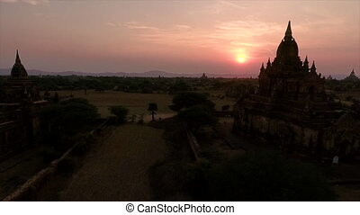 myanmar, bagan, zoom, dhammangyi, temple, vue