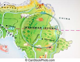 Myanmar (Burma) Country Map - Myanmar or Burma Country Map
