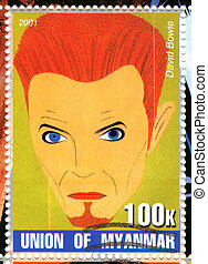 MYANMAR - CIRCA 2001 : stamp printed in Myanmar show funny...