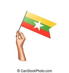 Burmese flag Vector Clip Art Royalty Free. 362 Burmese flag clipart vector EPS ...