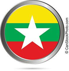 Myanmar flag button.