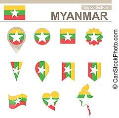 Myanmar Flag Collection