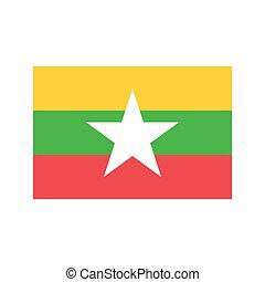 Myanmar flag illustration