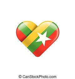 Burma flag Vector Clip Art Royalty Free. 562 Burma flag clipart vector EPS ...