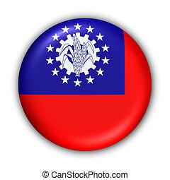 Myanmar Flag - World Flag Button Series - Asia - Myanmar...