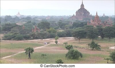 myanmar - Myanmar Bagan historical site on magical sunset...