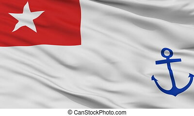 Myanmar Naval Ensign Flag Closeup Seamless Loop - Naval ...