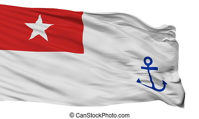 Myanmar Naval Ensign Flag Isolated Seamless Loop - Naval...