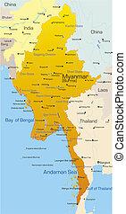 myanmar, paese
