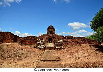 myanmar, stad, bagan, oud
