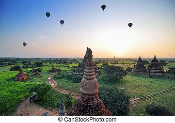 myanmar, tempels, bagan, oud