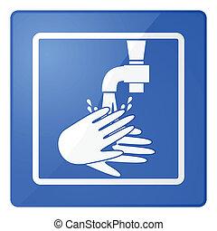 myjnia, siła robocza, znak