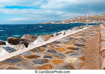 mykonos, 港, ギリシャ