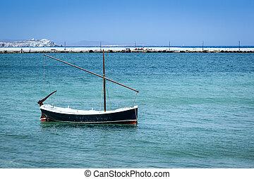 mykonos, bateau, grèce