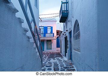 mykonos, chora, 都市, ギリシャ