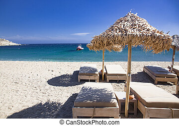 mykonos, griekenland, strand, mooi