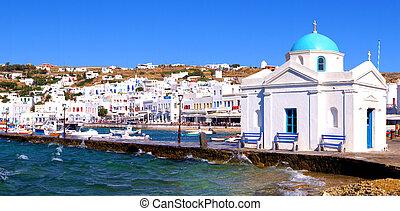 mykonos, hamn