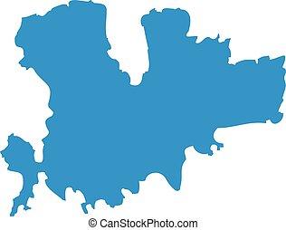 Mykonos map silhouette