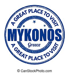 Mykonos sign or stamp