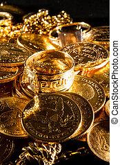 mynter, juveler, guld