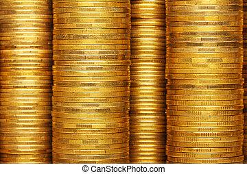 mynter, stack, bakgrund