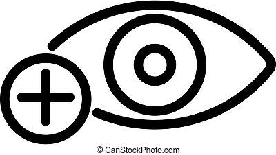myopia icon vector. Isolated contour symbol illustration