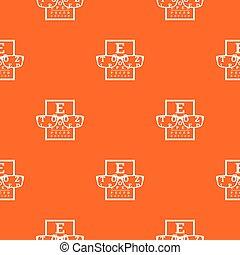 Myopia pattern vector orange