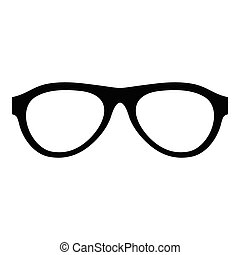 Myopic glasses icon, simple style.