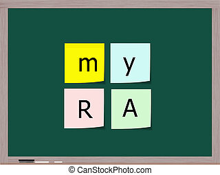 myRA on Sticky notes on Blackboard