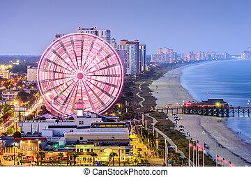 Myrtle Beach Skyline - Myrtle Beach, South Carolina, USA...