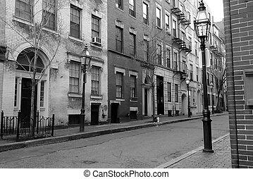 myrtle street boston - black and white image of myrtle...