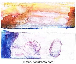myself., criado, roxo, abstratos, background.art, aquarela,...