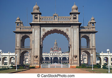 Main gate of Mysore Maharajah's palace (India)