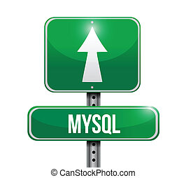 mysql road sign illustration