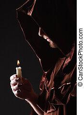 mystérieux, catholique, moine