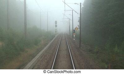 mystérieux, chemin fer, voyage