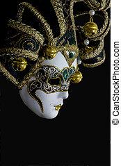 mystérieux, masque vénitien