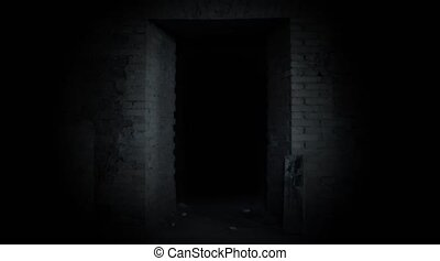 mystérieux, unknown., door., porte