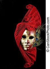 mysteriös, maske