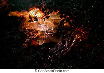 Mysteries of Nature - Abstract created by combining photos...