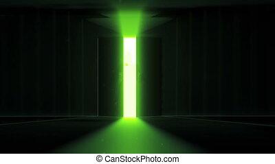 mysterieus, deur, jesus