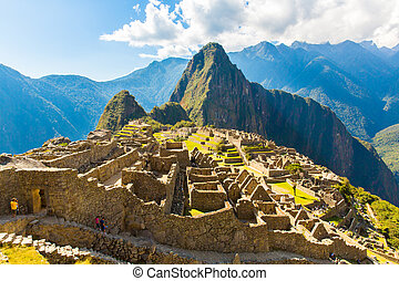 Mysterious city - Machu Picchu, Peru, South America. The ...