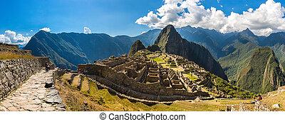 Mysterious city - Machu Picchu, Peru,South America. The...