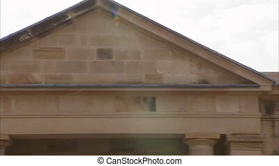 Mysterious establishment - A zoomed in to the roof shot of...
