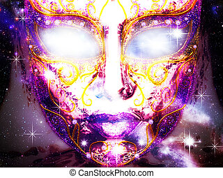 Mysterious Face Mask - Abstract mystic decorative face mask...
