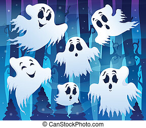 Mysterious forest theme image 7 - eps10 vector illustration.