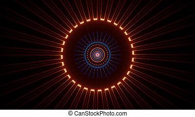 Luminous Reflection Light Ray Tunnel 4k uhd 3d illustration background